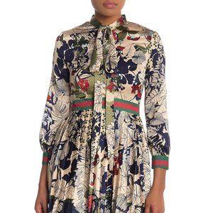 Dalia MacPhee floral multi pleat dress size M